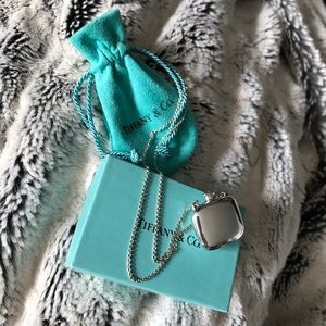 Tiffany & Co. Sterling Square Bottle Necklace